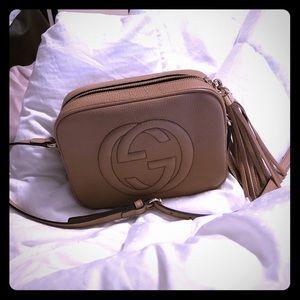 Gucci Soho small leather Disco bag (Rose beige)